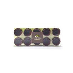 Scatola 10 Bicchirini Di Cioccolato Fondente